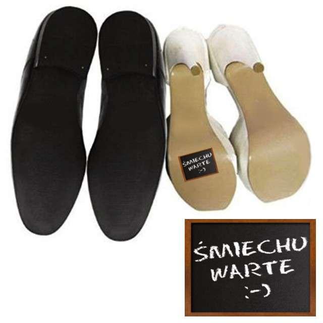 """Naklejki na buty """"Śmiechu warte :-)"""", 2 szt"""