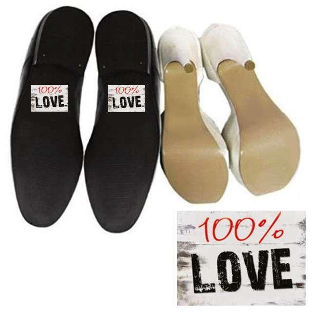 "Naklejki na buty ""100% LOVE"", 2 szt"