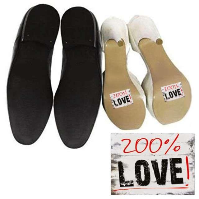 "Naklejki na buty ""200% LOVE"", 2 szt"