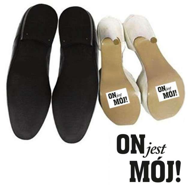 """Naklejki na buty """"ON jest MÓJ!"""", 2 szt"""