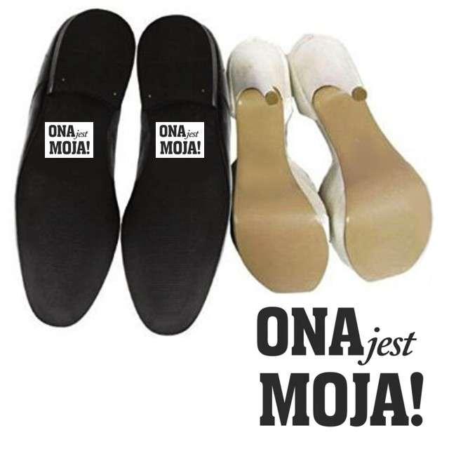 """Naklejki na buty """"ONA jest MOJA!"""", 2 szt"""