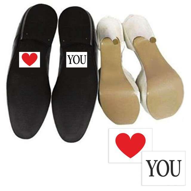 """Naklejki na buty """"SERDUSZKO"""" i """"YOU"""", 2 szt"""
