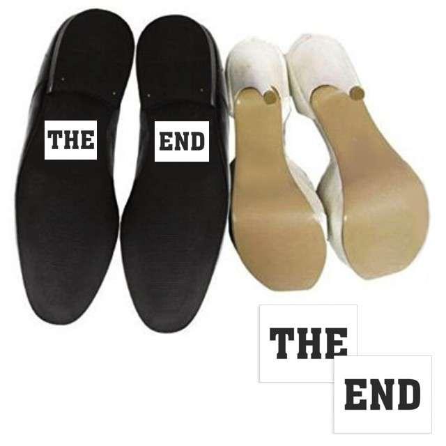 "Naklejki na buty ""THE END"", 2 szt"