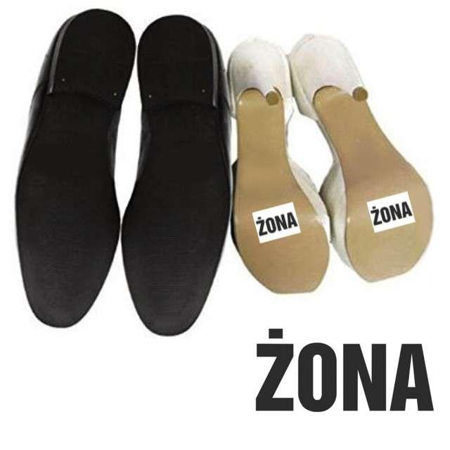 """Naklejki na buty """"ŻONA"""", 2 szt"""