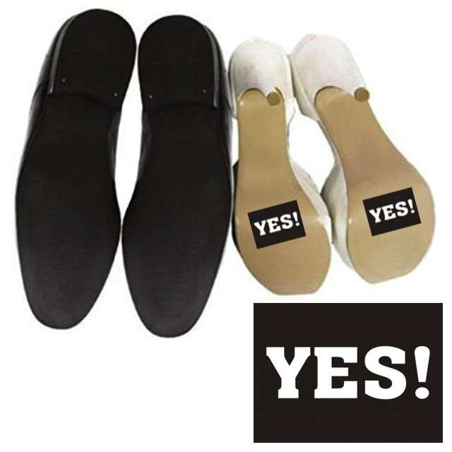 "Naklejki na buty ""YES !"", 2 szt"