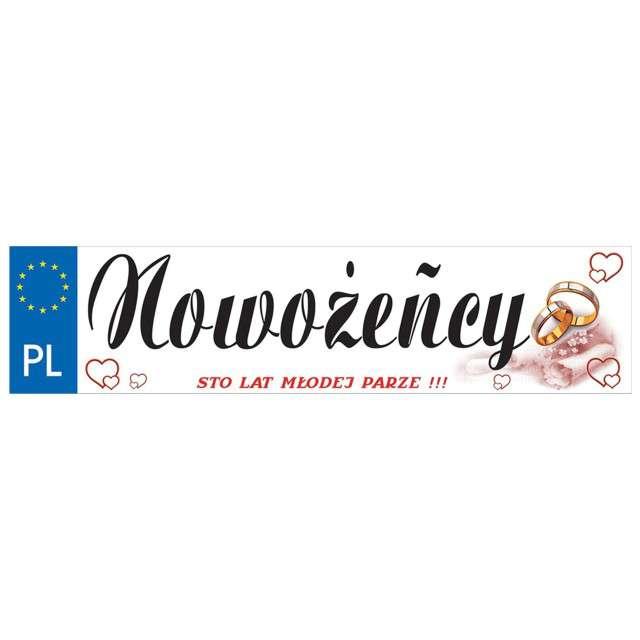 """Tablica rejestracyjna """"Nowożeńcy"""", DekoracjePolska"""