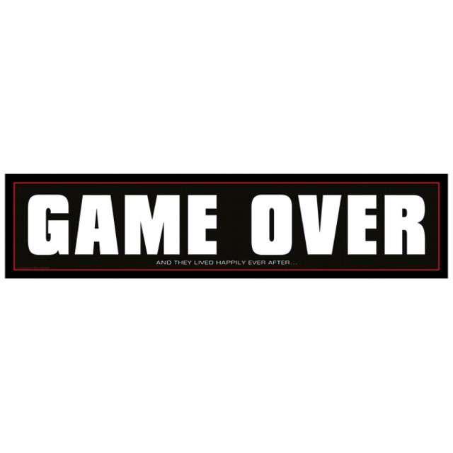 "Tablica rejestracyjna ""Game Over"", czarna"