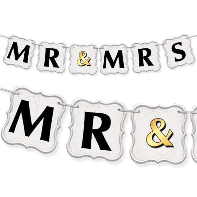 "Baner ""MR MRS and"", 100 cm"