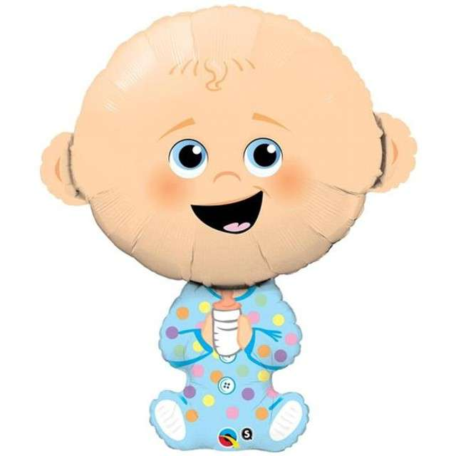 Balon foliowy Baby Shower - Boy QUALATEX 38 SHP