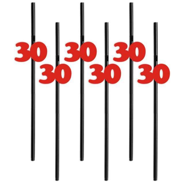 Słomki 30 21cm czerwone 6szt