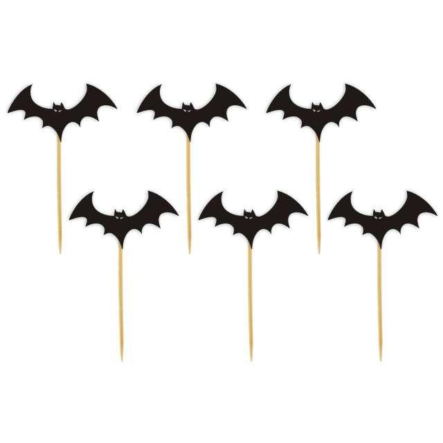 """Szpilki drewniane """"Halloween Nietoperze"""", 6 szt"""