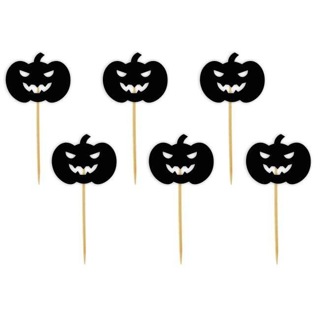 """Pikery """"Halloween Dynia"""", czarne, 6 szt"""