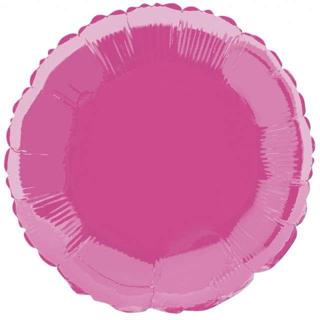 """Balon foliowy """"Okrągły"""", różowy, FLEXMETAL, 18"""" RND"""