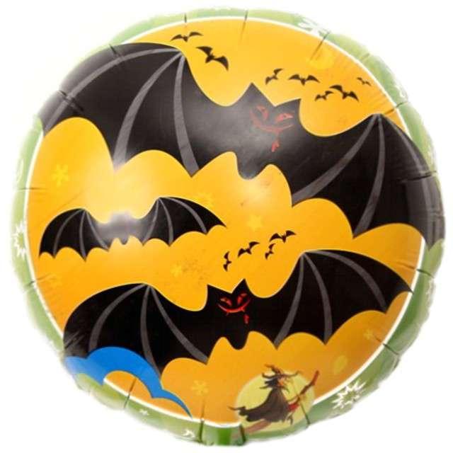 Balon foliowy Happy Halloween Nietoperze OEM 18 RND