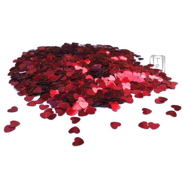 "Konfetti ""Serca czerwone"", 6 mm, 20 g."
