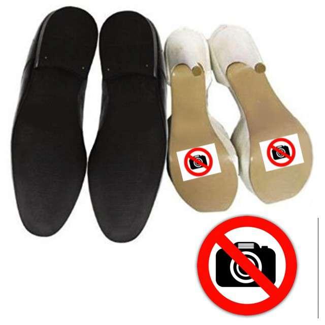 """Naklejki na buty """"Zakaz fotografowania"""", 2 szt"""