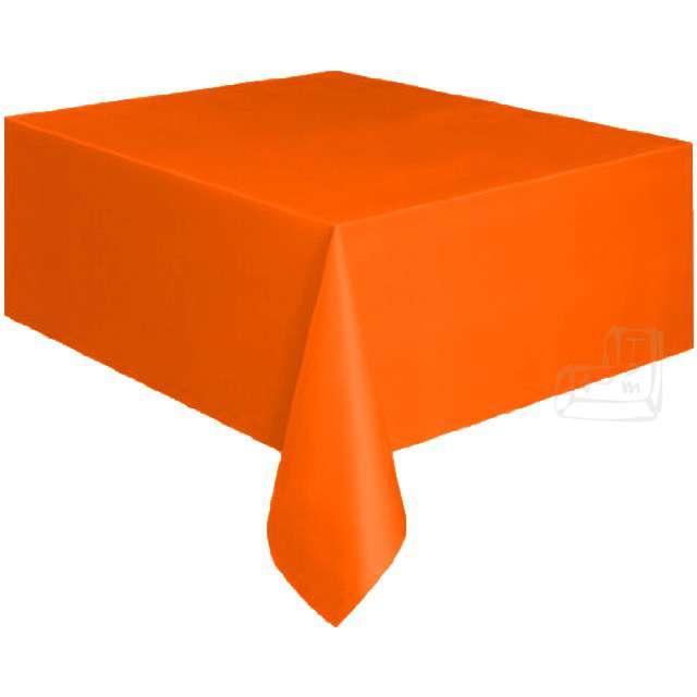 Obrus foliowy, AMSCAN, pomarańczowy, 137x274 cm