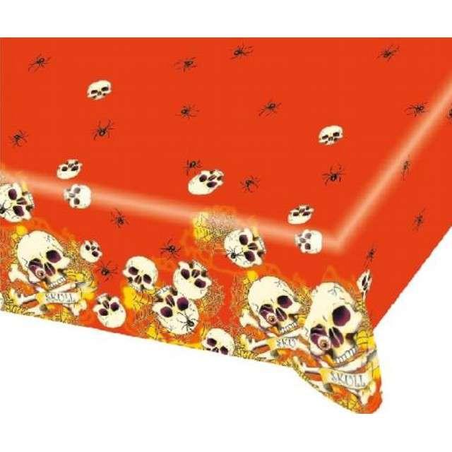 """Obrus foliowy """"Halloween czaszki"""", 120 x 180 cm"""