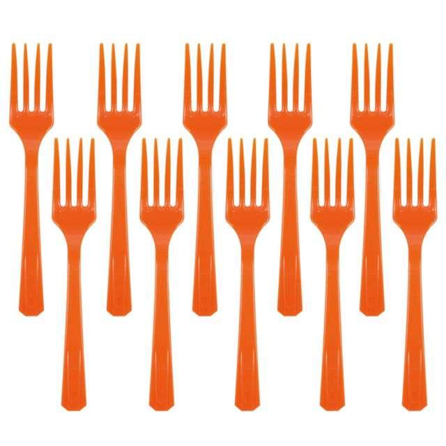 """Widelce plastikowe """"Amscan"""", pomarańczowe, 16 cm, 10 szt"""