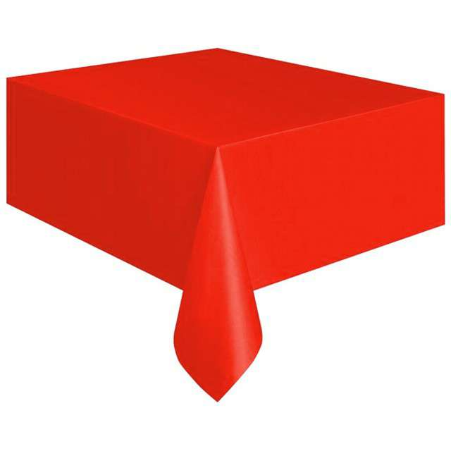 Obrus foliowy, ARPEX, czerwony, 140 x 120 cm