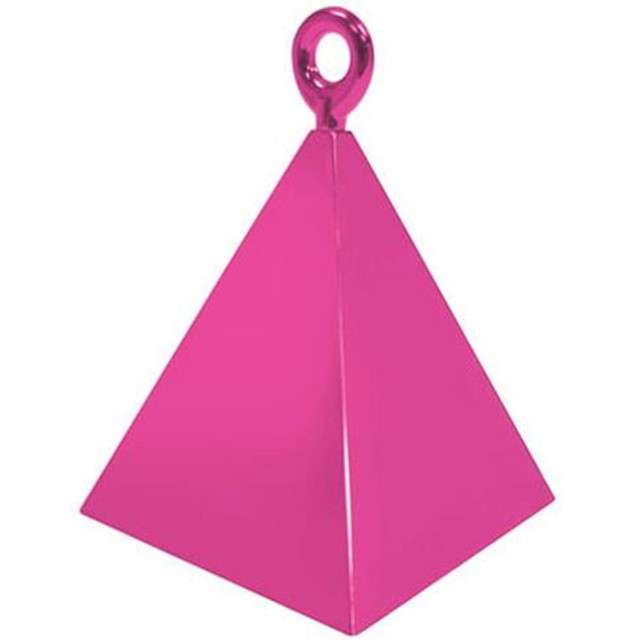 """Obciążnik do balonów """"Piramida"""", QUALATEX, różowy"""
