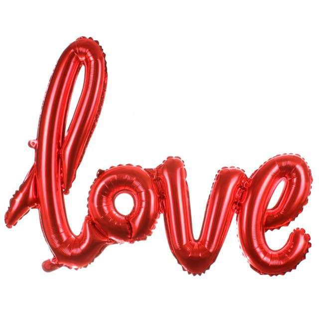"""Balon foliowy """"LOVE"""", czerwony, OEM, 42"""" SHP"""