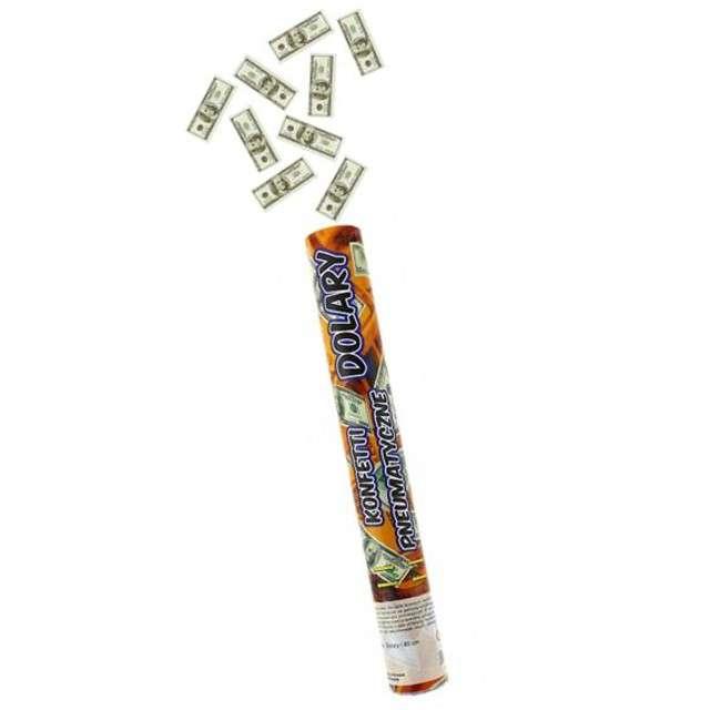 Tuba strzelająca, banknoty 100 USD, 40 cm