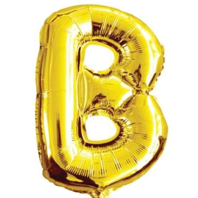 """Balon foliowy litera B, 16"""", OEM, złoty"""