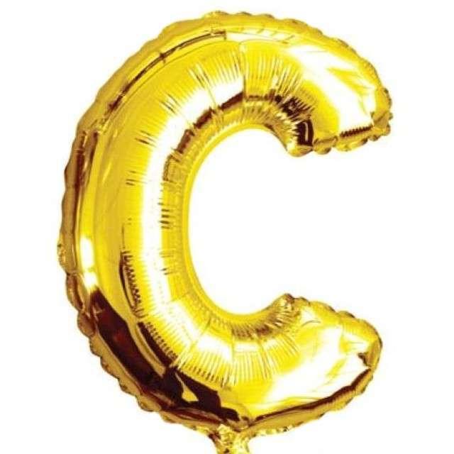 """Balon foliowy litera C, 16"""", OEM, złoty"""