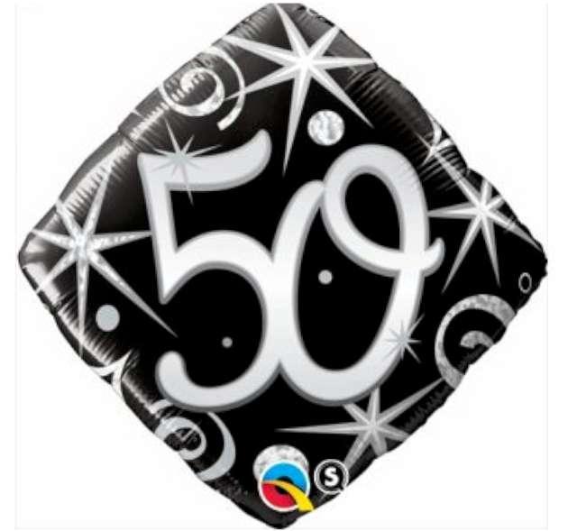 """Balon foliowy """"Urodziny 50 Elegant Black"""", Qualatex, 18"""""""