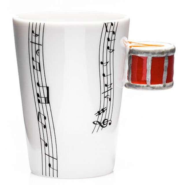 """Kubek """"Muzyczna przygoda - perkusja czerwona"""", 250 ml, GM"""