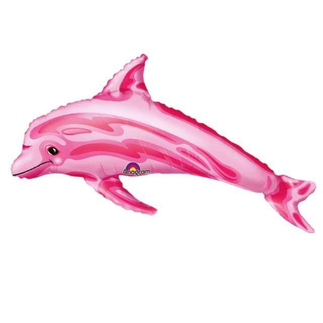 """Balon foliowy """"Delfin"""", różowy, AMSCAN, 14"""" SHP"""