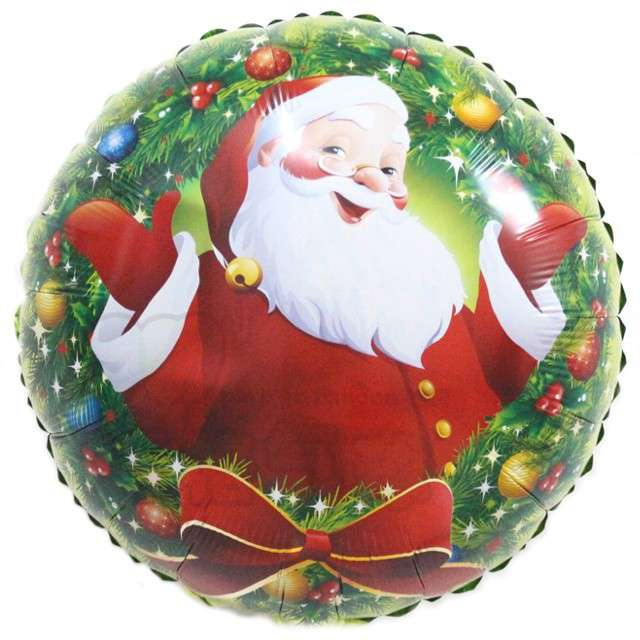 Balon foliowy Boże Narodzenie Mikołaj 18 RND