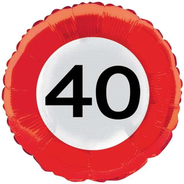 """Balon foliowy """"Urodziny 40"""", FOLAT, 18"""" RND"""