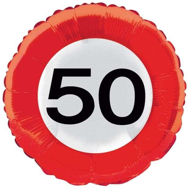 """Balon foliowy """"Urodziny 50"""", FOLAT, 18"""" RND"""