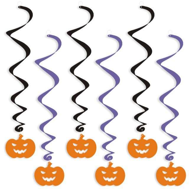 """Świderki wiszące """"Halloween Dynie"""", 6 szt"""