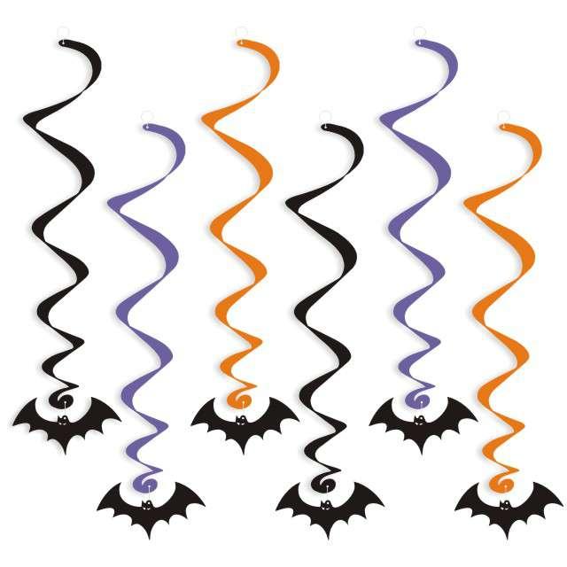 """Świderki wiszące """"Halloween Nietoperze"""", 6 szt"""