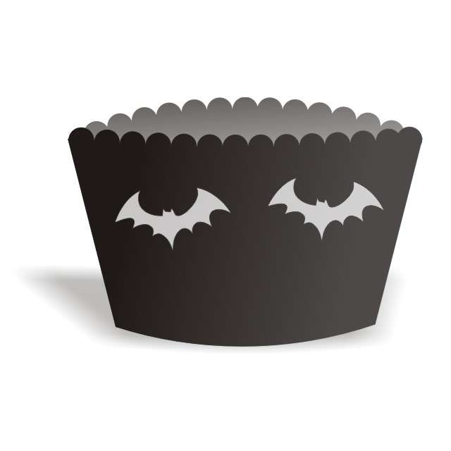 "Papilotki na muffinki ""Halloween Nietoperze"", 6 szt"
