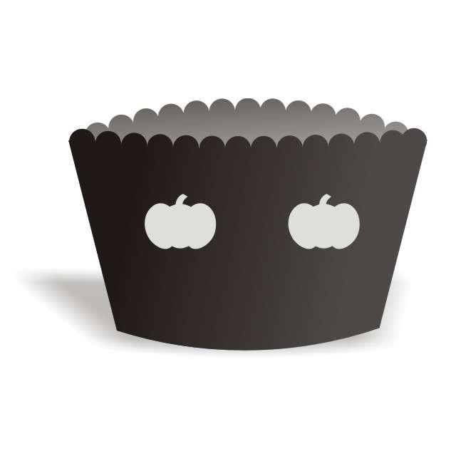 """Papilotki na muffinki """"Halloween Dynie"""", 6 szt"""