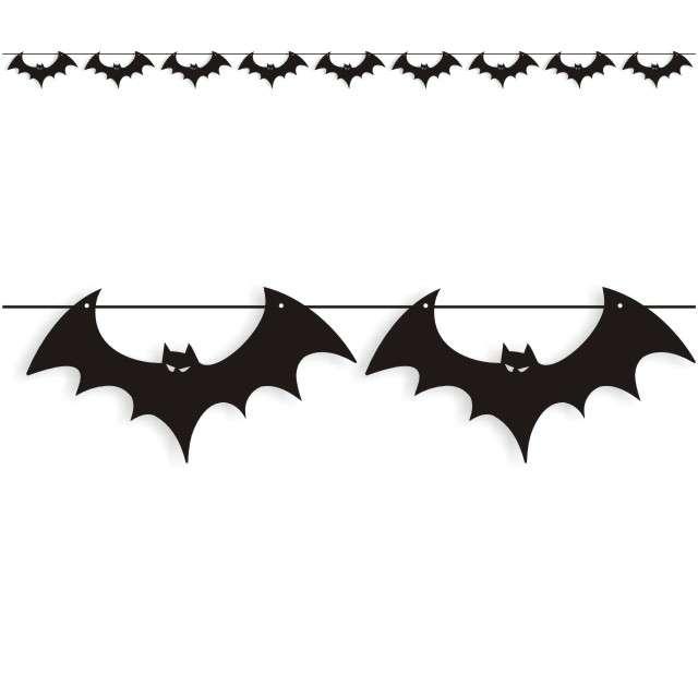 """Baner flagi """"Halloween Nietoperze"""", czarny, 3,6 m"""