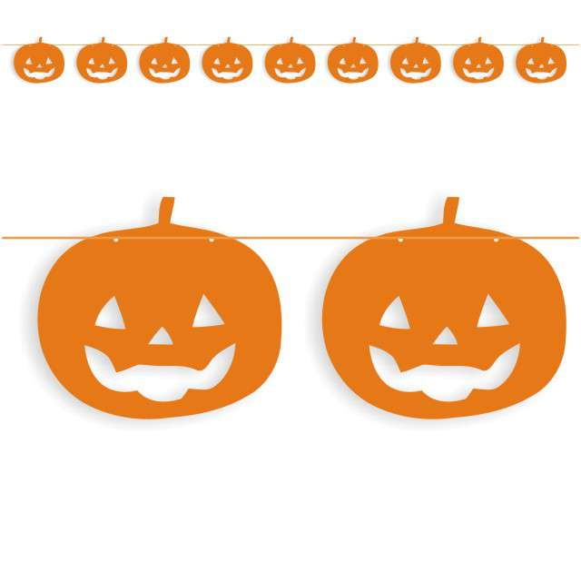 "Baner flagi ""Halloween Dynie"", pomarańczowy, 3,6 m"