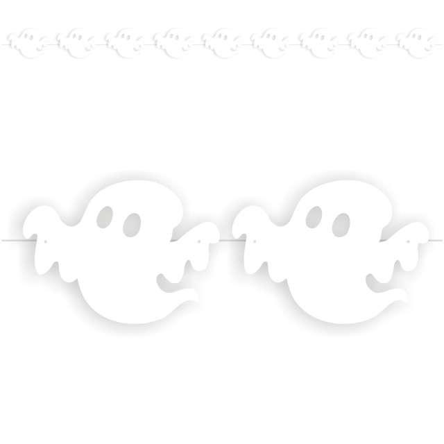 """Baner flagi """"Halloween Duchy"""", biały, 3,6 m"""