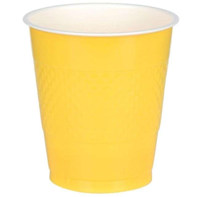 """Kubeczki plastikowe """"Diamond"""", żółte, 355 ml, 10 szt"""