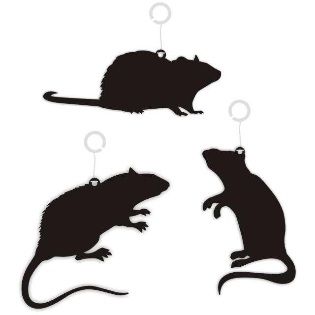 """Dekoracja kartonowa """"Szczury"""", 10 cm, 6 szt"""