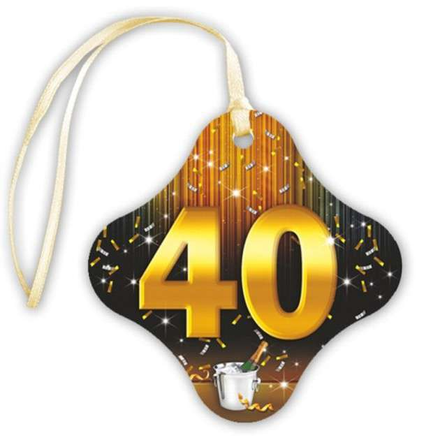 """Zawieszki na alkohol, """"40 Gold Champagne"""", 20 szt"""