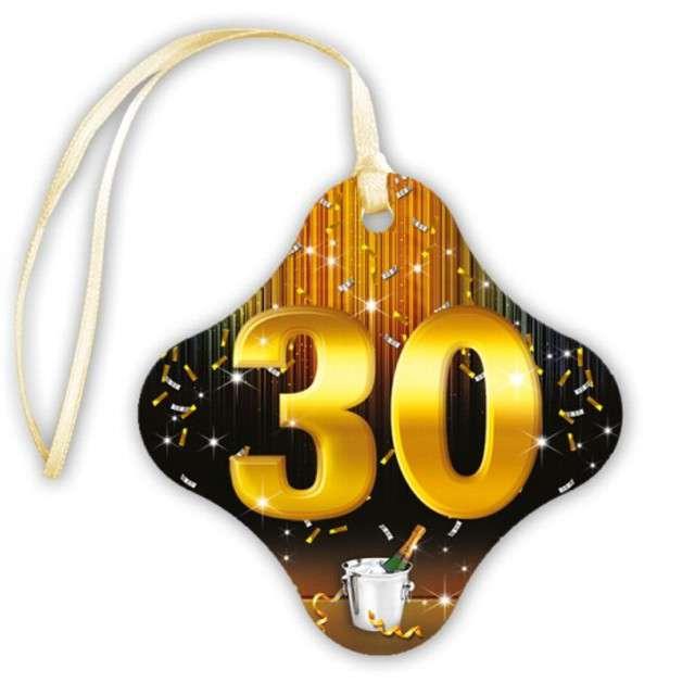 """Zawieszki na alkohol, """"30 Gold Champagne"""", 20 szt"""
