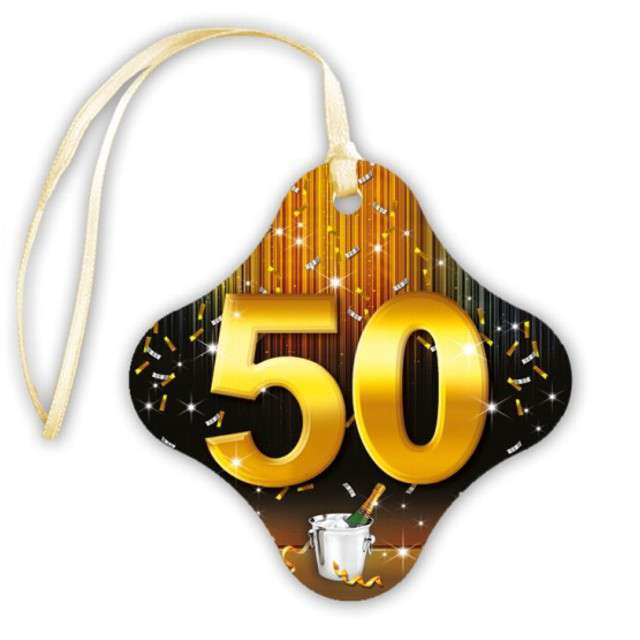 """Zawieszki na alkohol, """"50 Gold Champagne"""", 20 szt"""