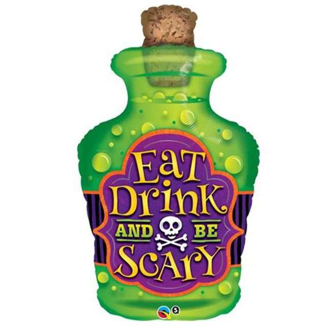 Balon foliowy Eat Drink and Be Scary QUALATEX 40 SHP