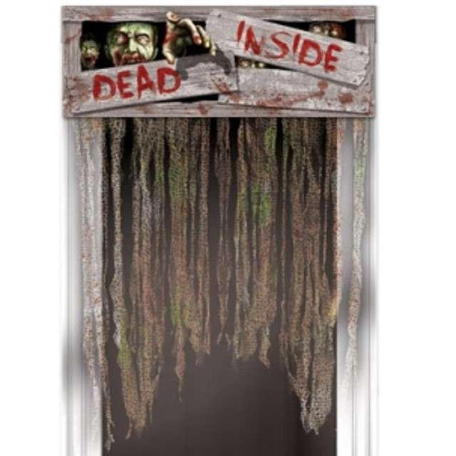 """Kurtyna na drzwi """"Horror Dead Inside"""", 137 x 96 cm"""