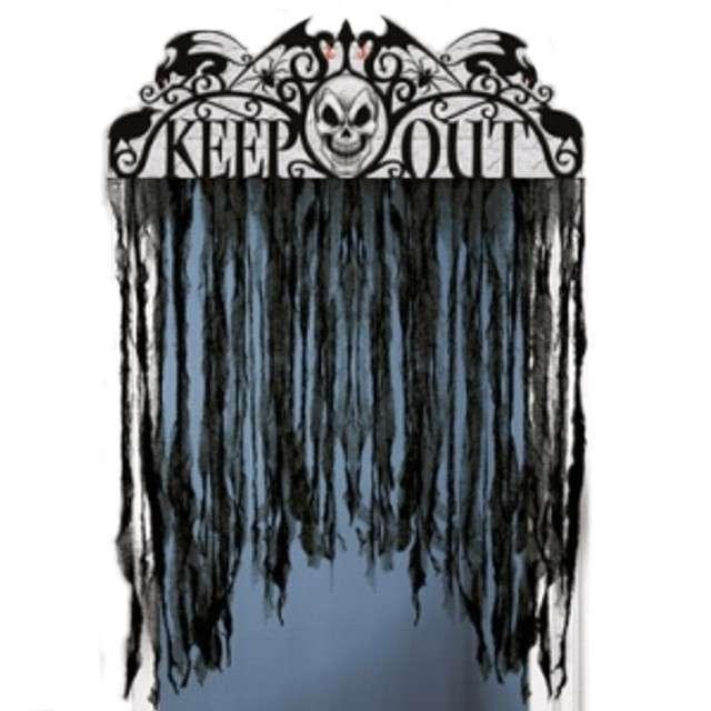 "Kurtyna na drzwi ""Horror Keep Out Spooky Hollow"", 137 x 96 cm"